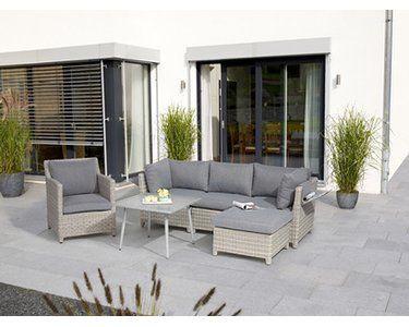 Lounge Gruppe Springside Polyrattan Naturgrau 6 Teilig Kaufen Bei Obi Garten Lounge Grosse Terrasse Gemutlich Gestalten Lounge