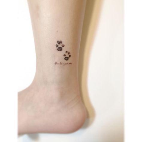 . . 강아지 발자국. 🐾 . #tattoo #tattoos #art #design #illustration #linetattoo #tattooist #일러스트 #tattooworkers #tattooer #drawing #미니타투 #korea #타투 #홍대 #아트 #플레이그라운드타투 #디자인타투 #감성타투 #발목타투 #playgroundtattoo