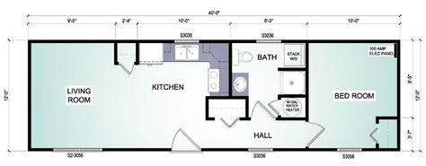 16 X 40 Cabin Floor Plans | 16'x40' Cabin Floor Plans in