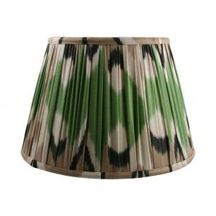 14 Green Cream Silk Ikat Lampshade Cream Silk Silk Ikat Lamp Shade