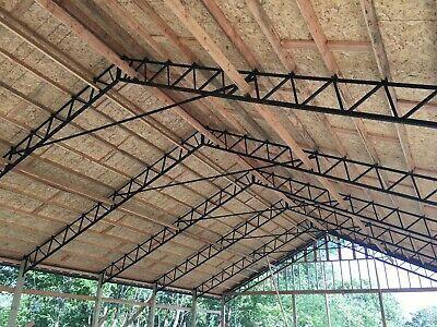 Steel Truss 40 Standard For Pole Barn Used On 10 Centers In 2020 Steel Trusses Building A Pole Barn Pole Barn