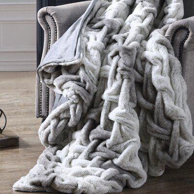 Union Rustic Westman Bear Throw In 2020 Grey Throw Blanket Faux Fur Throw Fur Throw