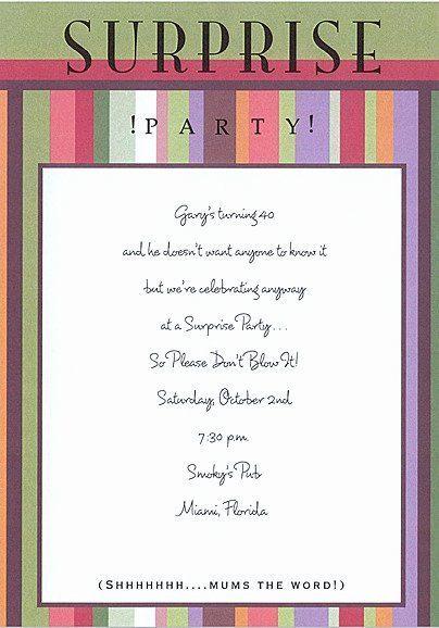 birthday party invitation quotes unique