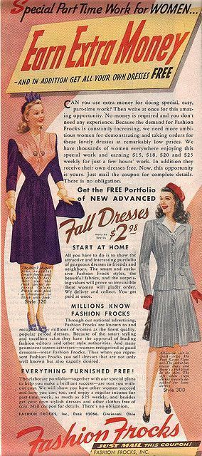 The Vintage Advertisements For Work From Home Jobs The Vintage Inn Fashion Advertising Vintage Advertisements Fashion