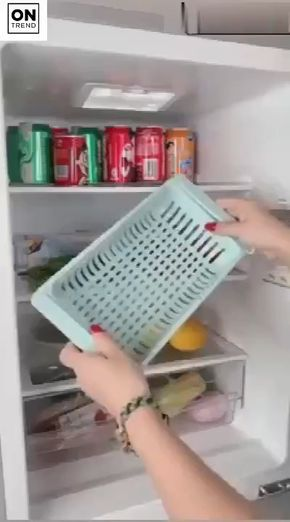 Kitchen Storage Refrigerator Partition Storage Basket Cool
