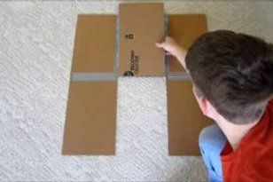 Shirt Folding Board From Cardboard And Duct Tape With Images
