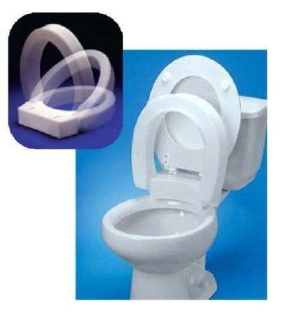 Admirable Amazon Com Improving Lifestyles Elevated Toilet Seat Hinged Frankydiablos Diy Chair Ideas Frankydiabloscom