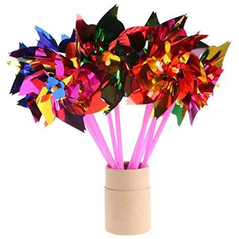 Thobu 10Set Windmill Pinwheel Wind Spinner Garden Yard Art Decoration Outdoor Toys DIY 4