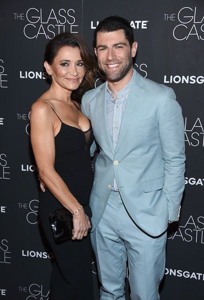 Couple Tess Sanchez and Max Greenfield attend 'The Glass Castle' NY screening.