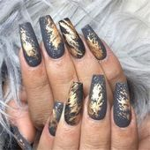 Long Marble Coffin Nails; Coffin Nails; Long Nails; Winter Nails; Marble Nails; ... - #coffin #marble #nails #winter