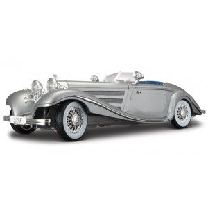 1936 MERCEDES 500K SPECIAL ROADSTER GREY 1:18 DIECAST MODEL CAR BY MAISTO 36862