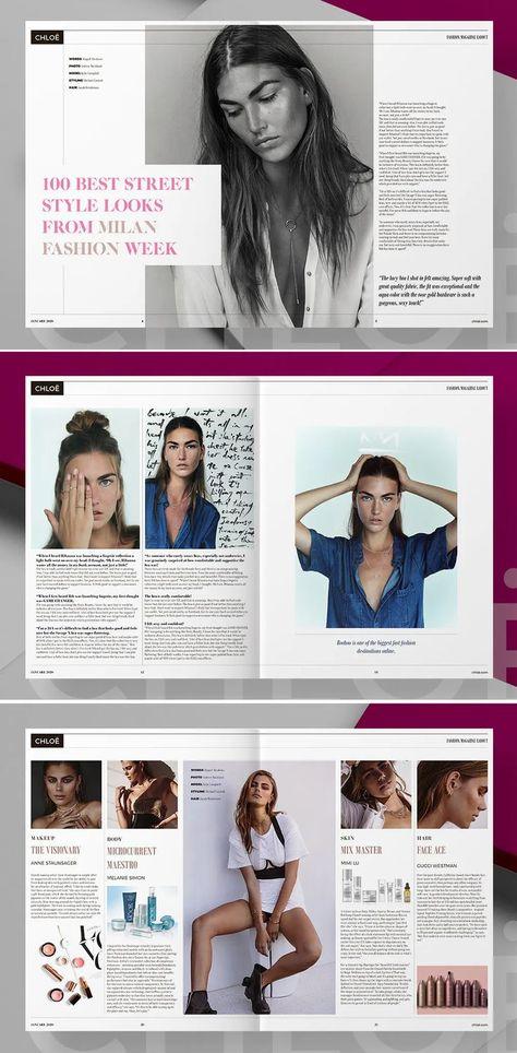 Fashion Magazine Template InDesign - 32 Unique Pages