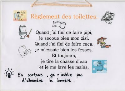 Reglement Des Toilettes Avec Images Gestion Des Emotions Toilettes Chasse D Eau