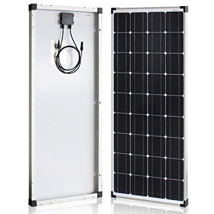 Richsolar 100 Watt 12 Volt Monocrystalline Solar Panel With Mc4 Connectors 12 Volt Battery Char Solar Panels Monocrystalline Solar Panels Solar Panels For Home