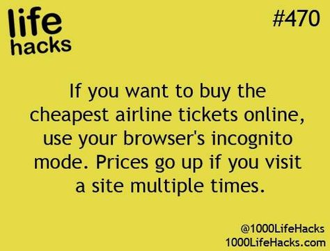 Cheap airline tickets - I KNEW somehow they knew which flights I was looking at and jacking up the prices!