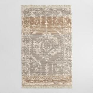Persian Style Print Woven Jute Dehra Area Rug With Backing Area Rugs Jute Rug Rugs