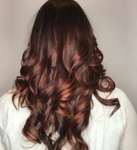 Kammsträhnen In Roter Farbe Braun Rote Haare Ideen Zum