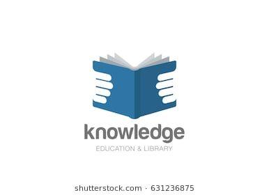 Open Book In Hands Logo Design Vector Template Negative Space