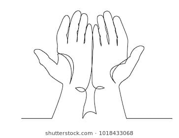 A Continuous One Drawn Line Silhouette Of The Palm Of An Islamic Praying And A Symbol Of Faith Mosque The Conce Line Art Design Abstract Line Art Line Drawing