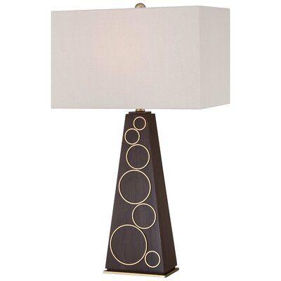 George Kovacs 29 5 Dark Walnut Table Lamp In 2021 Table Lamp Lamp Gold Lamp