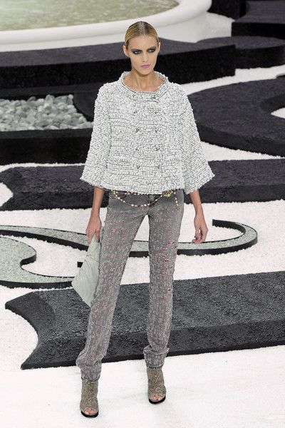 Anja Rubik at Chanel Couture S/S of my fave Chanel Couture collections
