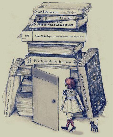 Resultado De Imagen Para Dibujos A Lapiz Sobre La Lectura Books Book Images Books For Teens