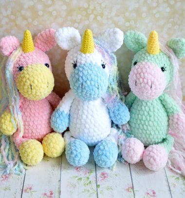 My rainbow unicorn amigurumi pattern - Amigurumipatterns.net | 407x380