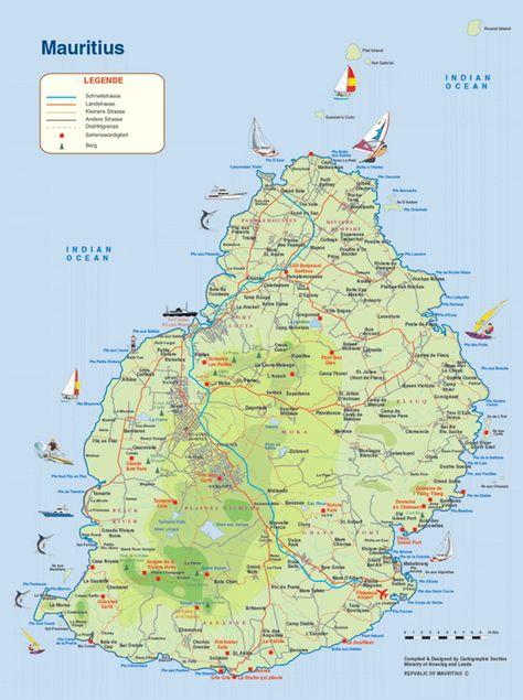 Karte Von Mauritius Mauritius Urlaub Mauritius Karte Mauritius