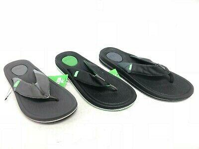 Sanuk BEER COZY 3 Black Men/'s Casual Flip Flop Sandals 1099396