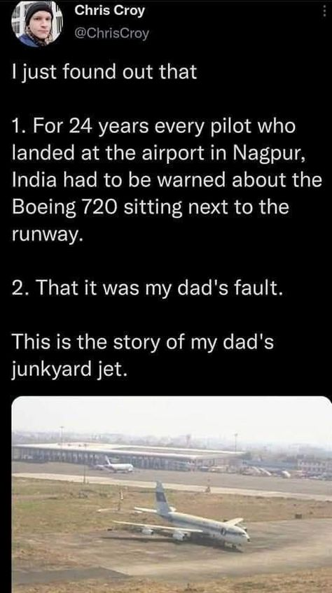 Ever seen an abandoned thing and wondered how it got there? What about an abandoned plane at an airport? Someone did that. #twitter #plane #story #wtf #weird #thread