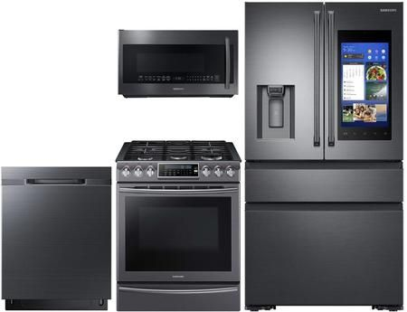4 Piece Kitchen Appliances Package With Rf23m8590sg 36 French