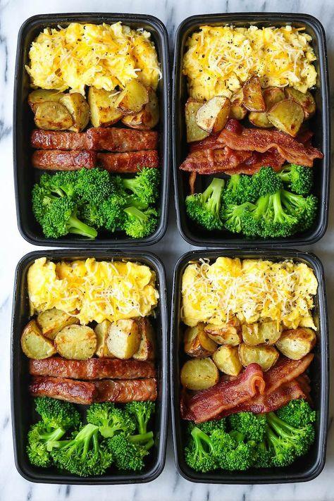 Programme du régime   :     Préparation de repas pour le petit déjeuner – Maintenant, vous pouvez dormir et manger un petit déjeuner copieux et copieux TOUTES LES SEMAINES! Des œufs, du bacon ou des saucisses, des pommes de terre rôties et du brocoli!