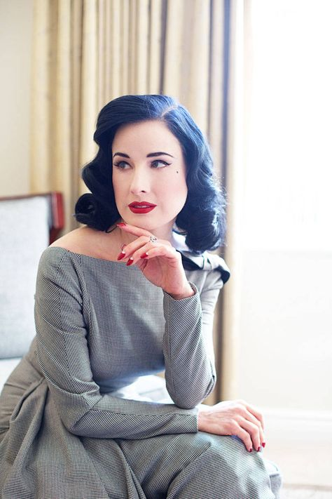 Dita Von Teese on Skin Care - Lady in Red