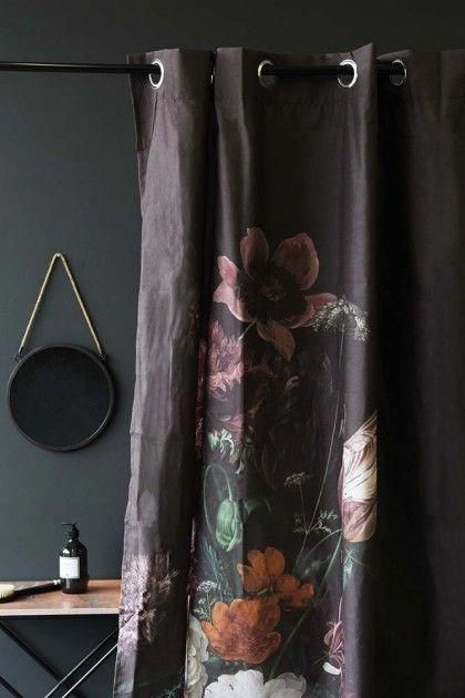 Black Floral Shower Curtain From Rockett St George Shopping