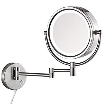 Gurun 8 5 Inch Magnifying Makeup Mirror With 3 Tones Led Lights Double Sided Vanity Mirror With 10x In 2020 Wall Mounted Makeup Mirror Makeup Mirror Led Makeup Mirror