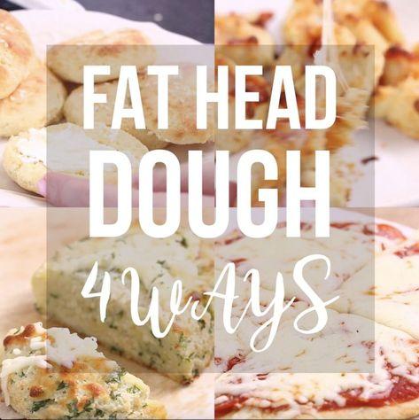 Incredible mozzarella dough - 4 ways. >>> Bagels - Garlic bread - Pizza - Pizza scrolls >>> An easy gluten free, keto, low-carb recipe. #glutenfreebread #lowcarb #keto #garlicbread #glutenfreepizza