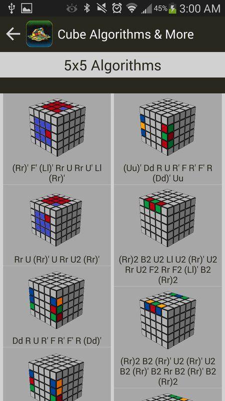 Cubo de Rubik Algoritmos y Más captura de pantalla de la apk