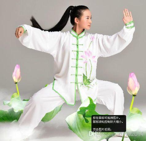 c9d9dcf37738 Tai chi uniform kung fu wushu clothing set martial arts clothes ...