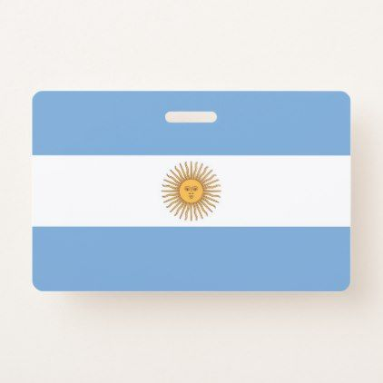 Name Badge With Flag Of Argentina  Argentina And Badges