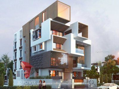 Bunglow Design- 3D Architectural Rendering Services - 3D Architectural  Visualization - 3D Power in 2019 | Modern architecture, Modern architecture  design, Exterior design