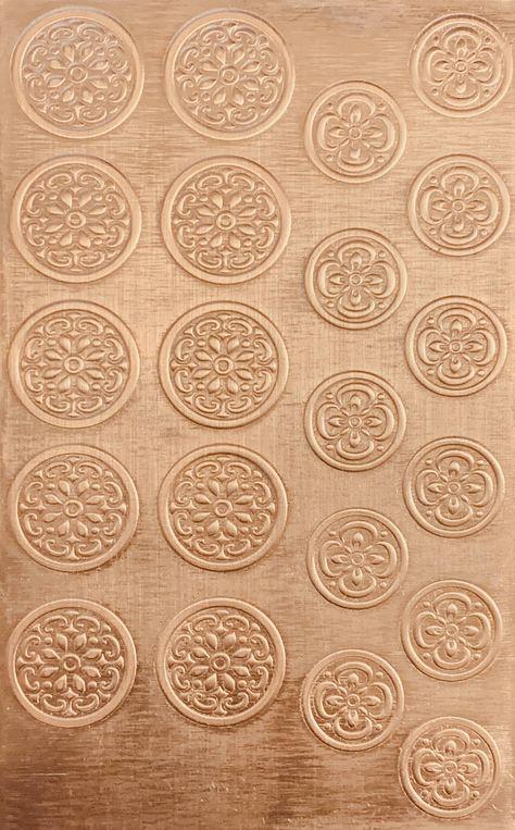 Bead Caps 5 8 1 2 Copper Pattern Pressing 2 1 2 X 4 Bead Caps Pattern Copper Sheets