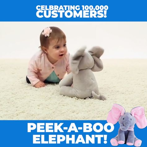 Kids absolutely love this ⭐⭐⭐⭐⭐ Peek A Boo Elephant and it's on an anniversary sale for $0.00 just cover the shipping.