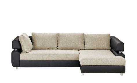 Switch Ecksofa Mit Schlaffunktion Schwarz Grau Kunstleder Webstoff Panama Moderne Couch Grosse Sofas Und Big Sofa Mit Schlaffunktion