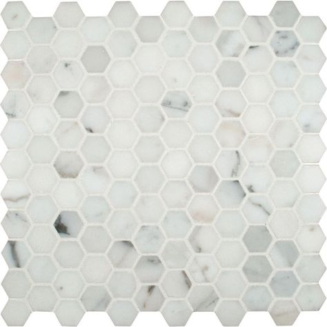 Msi Calacatta Gold Hexagon 12 In X 12 In X 10mm Polished Marble Mesh Mounted Mosaic Tile Hexagonal Mosaic Calacatta Gold Calacatta Gold Marble