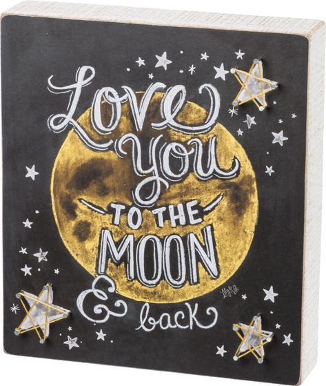 Love You To Moon and Back String Artwork Measures 9 x 8