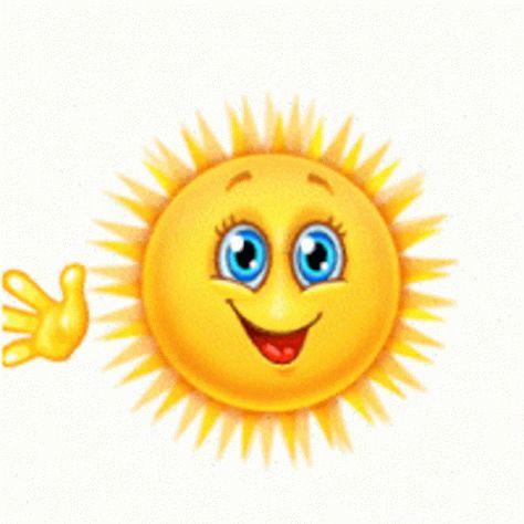 Sun Waving GIF - Sun Waving Hi - Discover & Share GIFs