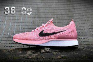 Womens Nike Air Zoom Mariah Flyknit Racer Pink Black White Running Shoes Pink Nike Shoes Womens Running Shoes Nike Casual Shoes