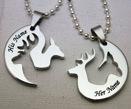 His And Hers Hunting Necklaces Awesome Stuff 365 Hunting Jewelry Hunting Necklace Diamond Cross Necklaces