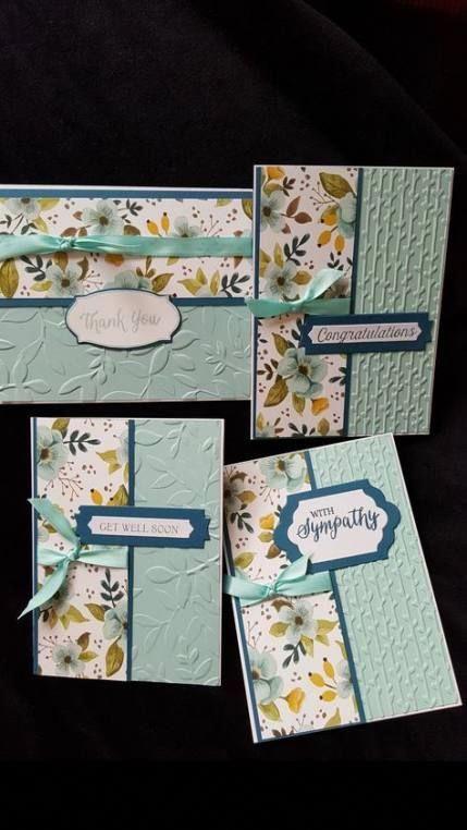 23 Ideas Baby Cards Simple Stampin Up Baby Scrapbookcarte Karten Basteln Karten Gestalten Gepragte Karten