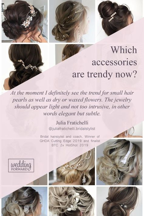 27 Lovely Wedding Hair Accessories Ideas  Tips ♥ Want to add something beautiful to your wedding look? See our collection of wedding flower crowns  hair accessories to inspire you! #wedding #bride #weddingforward #WeddingHairAccessories #weddinghair